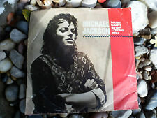 "Michael Jackson I Just Can't Stop Loving You 7"" Vinyl 45 Record 34 07253 Baby Be"