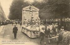CARTE POSTALE NANCY CORTEGE HISTORIQUE 1909 LE CHAR DE LA VILLE NEUVE