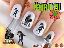 """RTG Set#588 IMAGE """"Zombie Attack"""" WaterSlide Decals Nail Art Transfers Salon"""