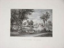 Le Parc  du VÉSINET estampe d'Auguste ANASTASI 1875