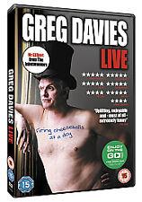 Greg Davies Live! Firing Cheeseballs At a Dog Dvd Brand New & Factory Sealed