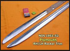 NOS 1951-1952 Plymouth Rocker Panel Molding Pair Concord Suburban Fastback Mopar