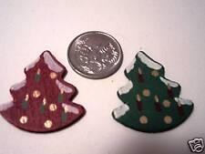 2 x wooden CHRISTMAS TREES ~ scrapbooking