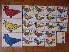 3 PETITS PUZZLES EDUCATIF PEDAGOGIQUE : OBSERVATION COULEURS CODAGE SYMBOLIQUE