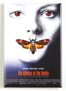 """Silence of the Lambs FRIDGE MAGNET """"style A"""" movie poster"""