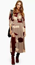 TOPSHOP NEW Tiled Maxi Midi Casual Work Party Evening Fashion Dress Sizes 6 - 18