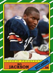 1986 Bo Jackson Pre-Rookie Buccaneers Custom Football Card