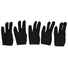 S6 5 x Guantes de 3 Dedos para Taco Billar Snooker, Negro