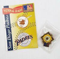 1994 San Diego Padres National League Baseball Lapel Hat Pin Pinback & Info Card