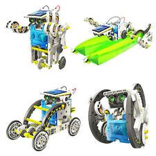 14in1 Kids Educational DIY Toys Creative Assemble Solar Transformers Robot Kits