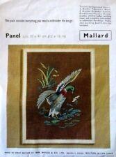 mallard bird stamped linen embroidery kit wm briggs vtg penelope