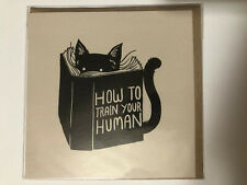 Blank Greeting Card Specialty Card Cat Book How To Train Your Human Funny Cute