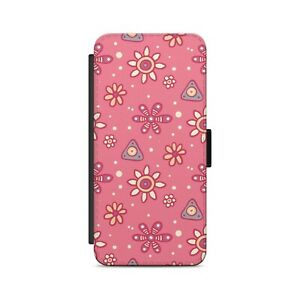 Abstract Red Flowers Art Floral Summer Pattern Flip Wallet Phone Case