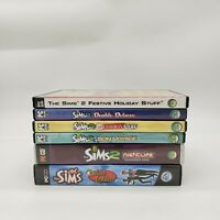 The Sims 2 Video Game Lot of 6 PC CD-ROM Expansion & Stuff Packs EA
