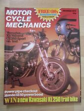 MOTOR CYCLE MECHANICS 1977 December B31 BSA Test CZ250 XS750 Service GT 380 BMW