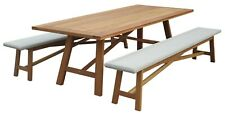 Rosita Timber and Wicker Dining Set