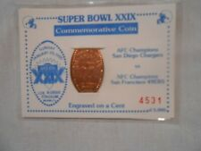 Super Bowl XXIX Commemorative Coin Engraved on a Cent   free shipping