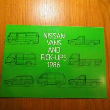 NISSAN Sunny Van Vanette E23 Urvan Trade 1 Ton 4WD Pick-Up Cabstar Brochure 1986