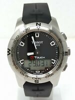 Orologio Tissot T-Touch II stainless steel watch diver 10 bar clock multifunzion