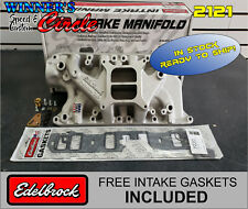 Edelbrock 2121 Perf Intake Mainifold Small Block Ford with FREE intake Gaskets