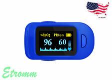 Us Fingertip Pulse Oximeter Spo2 Blood Oxygen Saturation Heart Rate Monitor