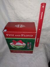 Christmas Fitz and Floyd Green Ornament Bowl with Bow & 2 Spreaders open box