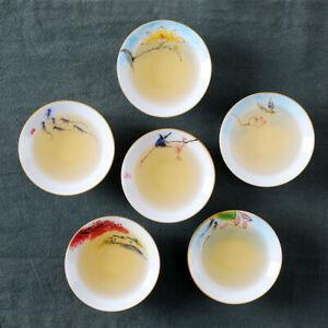 tea cup set porcelain chabei ceramic handpainted Chinese kungfu tea cup 50ml