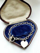 Sterling Silver Heart TBAR Link Bracelet 20gr B'gham