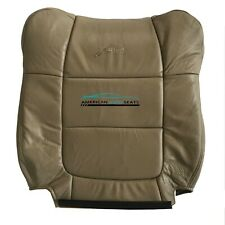 2001 Ford F150 Lariat Driver Side Lean Back Replacement Leather Seat Cover Tan