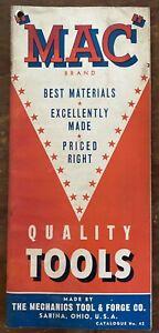 1940's Mac Tools (Mechanics Tool & Forge) CATALOG #20 Sabina Ohio