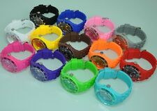 JELLY WATCH CANDY COLOR BOYS GIRLS MENS WOMENS SPORT WRIST WATCH RUBBER SILICONE