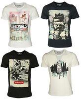 Jack and Jones Mens Slim Fit T shirts Short Sleeve Crew Neck Summer Tee Tops