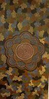 Don Tjungurrayi acrylique sur toile peinture originale Aborigenes Australie