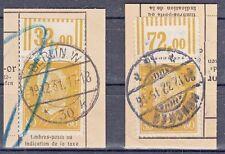 437WOR - tadellose Briefstücke - 80 Pf. mit Oberrand 2'9'2 - suchen sie aus!
