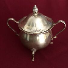 ANTIQUE AMERICAN STERLING SILVER LIDED SUGAR BOWL BOARDMAN 172 GRAMS NO MONOGRAM