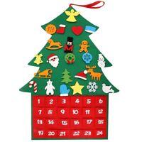 Filz Weihnachten Baum,DIY Weihnachten Baum Stoff Adventskalender mit Tasche W5Z8