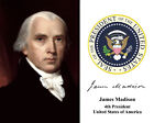 President James Madison U.S. Presidential Seal Autograph 11 x 14 Photo Picture
