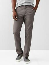 NWT $49 Gap Men's LIVED IN Slim Fit  Cotton Chino Pants SHADOW GRAY 38 34