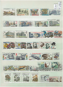 Czechoslovakia Stamps 1988 - 1992 Collection used 3 x Scans