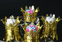 12 GOLD CROWN FILLABLE PARTY FAVORS PRINCESS PRINCE BABY SHOWER TABLE DECORATION