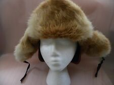 Men's Rabbit Fur Vintage L.L. Bean Hat with Warm Fur and Ear Muffs