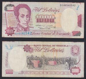 Venezuela 1000 bolivares 1994 BB/VF  C-09