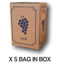 Vino Rosso Onda Bag in Box lt.20 (5 pz) - Vini Sfusi Sardegna -