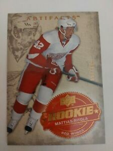 2008-09 Upper Deck Artifacts Rookie 253 Mattias Ritola 554/999 Detroit Red Wings