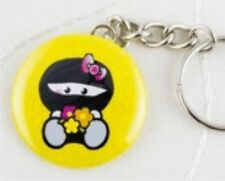 Ninja Girl With Flowers Handmade Keyring Martial Arts