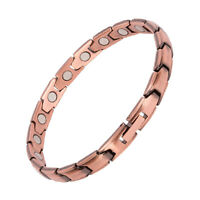 Thin Pure Copper Magnetic Bracelet women Arthritis Pain Relief Balance Energy