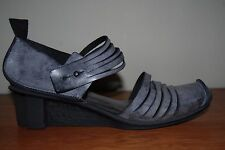 NEW Trippen BLACK ICE Leather GOOD Wedge Heel Shoe EU42 (US10) $345