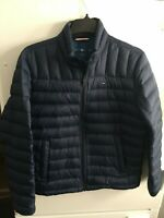 TOMMY HILFIGER Mens Packable Duck Down Nylon Puffer Jacket Navy Size Medium