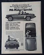 Vintage 1976 MG Midget Special - British Leyland Motor Company - Full Page AD