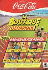 Publicité advertising 1984 Boisson Soda Coca  Boutique Olympique